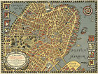 1921 Pictorial Map Old Boston in the Commonwealth of Massachusetts Wall Poster