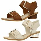 Ladies Clarks 'Sandcastle Art' Leather Sandals Label ~ K