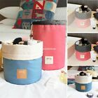 Unisex Outdoor Travel Cosmetic Bag Wash Bag Handbag Suitcase Cylindrical EN24H01