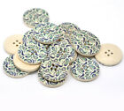 Blue & Green Paisley Design Wooden Buttons 30mm. Ideal sewing and craft Free P&P