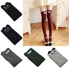 Womens Long Over Knee Cotton Socks Thigh High Cat Bear Knitted Classic Stockings
