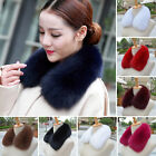 New Women Real Fox Fur Collar Scarf Shawl Stole 100% Real Fur Scarves Wraps Warm