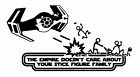 Vinyl Decal Sticker Car Star Wars The Empire Doesn't Care Stick Figure Family v4 $6.0 USD on eBay