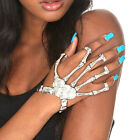 Creative Hand Skeleton Bracelet Elastic Bangle Rings Joint Bone Halloween New