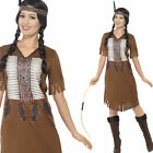 Native American Warrior Princess Fancy Dress Costume Cowboys Smiffys 45976
