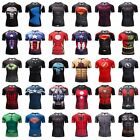 Men's Compression Marvel Superhero 3D T-Shirts Training Tops Short Sleeve Tight