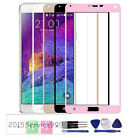 New Front Full Screen Real Tempered Glass Film Cover For Samsung Note4 N9100