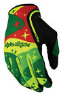 Troy Lee Designs XC Cosmic Camo MX/Offroad Gloves Yellow/Green/Red