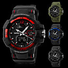 SKMEI Military Mens Boy Big Face LED Army Sports Watch Analog Digital Wristwatch