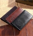 Mens Casual Leather Wallet Card Clutch Cente Bifold Purse Bag Father's Day Gift