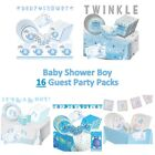 16 Guest Baby Shower Boy - Party Packs includes Decorations, Games, Tableware