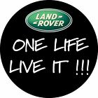 BLACK LAND ROVER BADGE ONE LIFE LIVE IT WHEEL COVER PRINTED STICKER