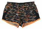 Nike Women's Dri-Fit 5K Allover Print Running Shorts-Blk/Gry/Orange