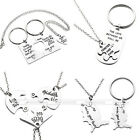NEW Family Love Alloy Metal Silver Pendant Necklace Key Chain Mother's Day Gift