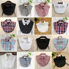 Womens Fall Peter Pan False Collar Fake Half Shirt Blouse Detachable Cotton Bib