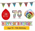 AGE 70 - Happy 70th Birthday Party Banners, Balloons & Decorations