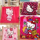 Cute Cartoon Blankets For Baby Girls Coral Fleece Children Throws Rugs Beddings