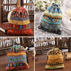 Boho Drawstring Jewelry Pouch Cotton Gift Bags Pouches Wedding Party Decoration