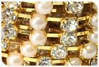 5.4yard/5m Crystal and Pearl Rhinestone Trims Cup Claw Chain Jewelry Crafts