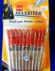 Cello Maxriter Red Ball Pen Smooth Flow Writing Student School Home Office