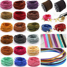 10 yard 3 mm 25 colors Faux Suede Leather String Jewelry Making Thread Cords DIY
