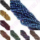 100 pcs 4 mm 8 colors Rondelle Crystal Glass Spacer Bead Diy jewelry accessories