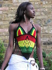 CROCHET BRALET TOP 03 JAMAICAN. COLORS. Bralette knitted Bikini and festival Top