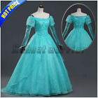 The Little Mermaid Ariel Princes Dress Girl Green Dress Adult Party Gown Cosplay