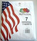 Fruit of the loom T-Shirt 7er Pack Original T-Shirts in weiß Größe M, L, XL