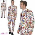 Mens 60s Groovy Stand Out Suit Adult Hippie Psychedelic Peace Fancy Dress Outfit