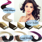 Seamless Tape in Weft Hair Extensions Ombre Balayage Mixed Color Human Remy Hair