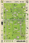 Early Williams College Humorous Map Wall Poster Vintage Massachusetts History
