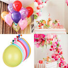 BULK-100pcs LATEX STANDARD BALLOONS Party Wedding Air/Helium Quality 6 Colours