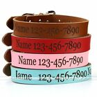 Custom Made Personalised Pet Dog Cat Collar Engraved With Name Phone Number Gift