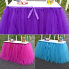 Tulle TUTU Table Skirt cover Wedding Party Baby Shower bday Table Decor 3Colors