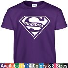 SUPER GRANDMA Funny Mom Mothers Day Birthday Christmas Shower Gift Tee T Shirt