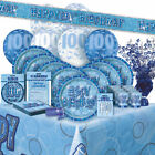 AGE 100 - Happy 100th Birthday BLUE GLITZ - Party Range, Banners & Decorations