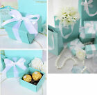 10pcs Blue Baby Shower Valentine's day Wedding Party Favors Gift Candy Boxes