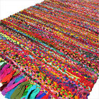 2 X 3, 3 X 5, 4 X 6 Ft. Colorful Boho Chindi Woven Area Rag Rug Indian Bohemian