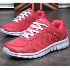New Womens Lace Up Sneakers Sports Running Shoes Breathable Athletic Shoes Size