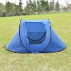 Waterproof 2-3 Person Camping Tent Outdoor Hiking Family Tent Brown/Dark Blue