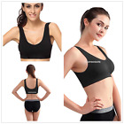 BLACK Convertible Exercise Running High Impact Sports Bra EN24H