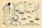 WWII Military War Map 19th. XIX Corps Action from Siegfried Line to victory