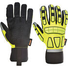 Portwest Unisex Safety Impact Glove Lined Yellow Various Size A725