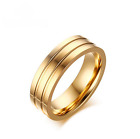 Halo Size 6-12 Gold Band Stainless Steel Women's Wedding Engagement Bridal Rings