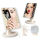 22 LED Lighted Makeup Mirror Cosmetic Light Touch Screen Tabletop + 10X Magnifie