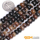 Natural Brown Botswana Agate Gemstone Rondelle Spacer Beads For Jewelry Making