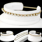 "ALL SIZES 9-14"" WHITE Austrian CRYSTAL 10"" 14K GOLD GL Foot SHOE CHAIN Anklet"