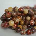 Grade A Natural Birdseye Rhyolite (red brown) Gemstone Round Beads 4, 6, 8, 10mm