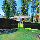 Customize 4' FT Privacy Fence Screen Black Commercial Windscreen Shade 161-320